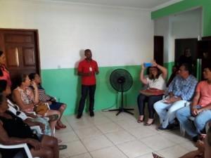Cras de Olivença realizou diagnostico com a comunidade. Foto SDS Ilhéus