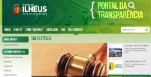 Portal da transparencia de Ilheus agora traz todos os contratos firmados pela administração pública. Reprodução