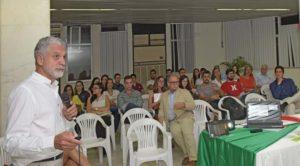 Secretário de Saúde de Itabuna Paulo Bicalho fala na abertura do 1º Encontro sobre Doação e Transplantes - Foto Pedro Augusto 2