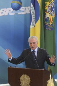 Brasília - O presidente Michel Temer preside a cerimônia de lançamento do Programa Criança Feliz, no Palácio do Planalto (Antonio Cruz/Agência Brasil)