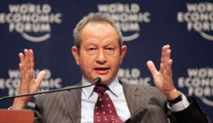 Egyptian entrepreneur Naguib O. Sawiris, Chairman and Chief Executive Officer of Orascom Telecom Holding, participates in a plenary session about the Challenges of going Global at the World Economic Forum (WEF) on the Middle East held in the resort town of Sharm el-Sheikh in Egypt 22 May 2006. The World Economic Forum-Middle East enters its third and final day, with some 1,200 business and political leaders expected to discuss regional issues. AFP PHOTO/MAHMUD TURKIA