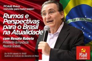 Convite PCdoB Ilhéus - Renato Rabelo