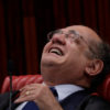 President of the Superior Electoral Court Gilmar Mendes smiles during a session where Brazil's electoral court will take up a 2014 case that could unseat President Michel Temer, in Brasilia, Brazil June 9, 2017. REUTERS/Ueslei Marcelino