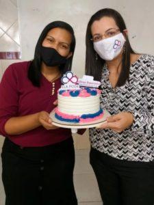 Empreendedora Amanda Bezerra (E) e multiplicadora do Ela Pode pela SETEQ, Lúcia Costa Foto: Carolina Romão/SETEQ