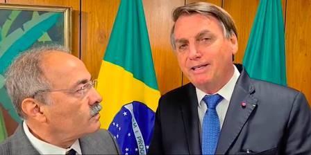 Ex-senador, por Roraima, Chico Rodrigues e o presidente Jair Bolsonaro. Foto: divulgação.